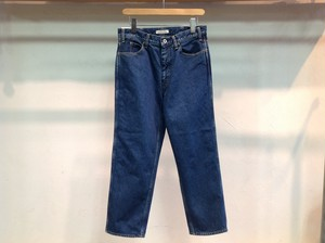 "LIVING CONCEPT "" 5POCKET WIDE TAPERED PANTS BIO WASH B.BLUE"""