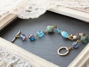 【 Kさまのご予約品 】 オリエンタルブルー 海の色を集めた ブレスレット