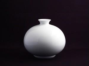 【井上萬二作】白磁丸形壷-B