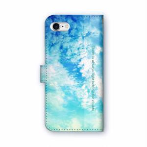 雲の向こうはいつも青空 手帳型iPhoneケース