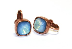 〈エルコブレ〉銅色の耳飾り blue shell ブルーシェル