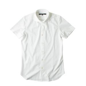 DJS-004 decollouomo メンズドレスシャツ 半袖 PUREWHITE - ピュアホワイト