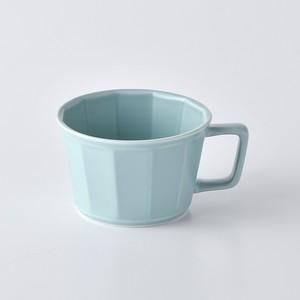 面取スープカップ・ミントブルー