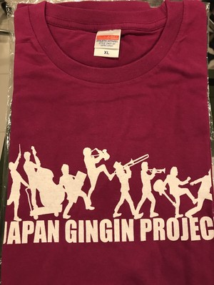 【特別販売】カルメラロゴTシャツ【赤紫×白XL】