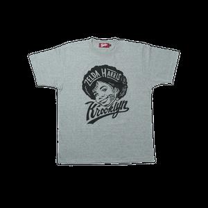 K'rooklyn T-Shirt × 上岡 拓也 ZELDA HARRIS - Gray