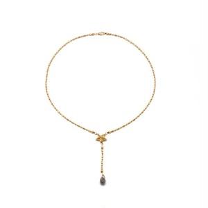 フランス リヨン発  準貴石ラブラドル長石のかわいらしいネックレス