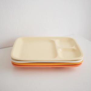 ceramic squre plate 4colors / セラミック スクエア プレート ダイエット おうちカフェ 仕切り 韓国 雑貨