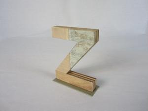 切り文字 Z (木のパッチワーク)