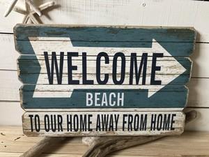 WELCOME BEACH ウッドパネル