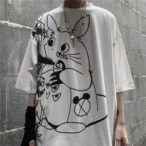 【トップス】ストリート系カートゥーンプリント半袖Tシャツ27313207
