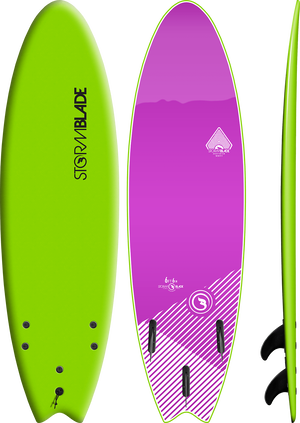 Storm Blade 6ft6 Swallow Tail Surfboard / Apple Green