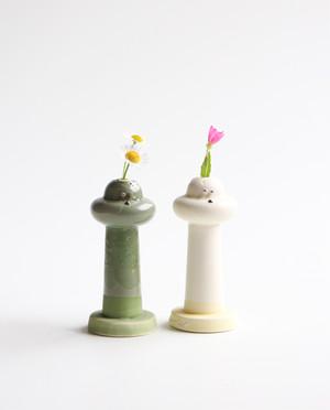 ひょっこりワンのフラワーベース  花瓶