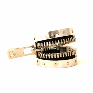 ZIPPER RING SILVER