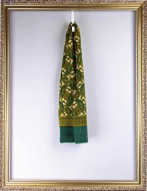 Vintage Cashmere Scarf -Green ヴィンテージ ペイズリー柄スカーフ