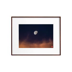 朝焼けの月(ホワイトボード)A4サイズ