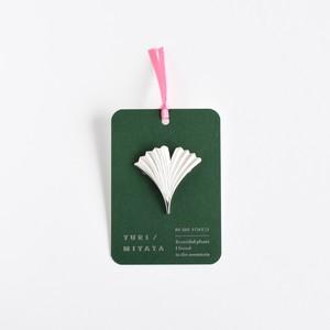 【Brooch】Leaf / Radial L silver