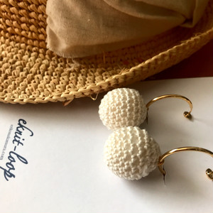 Knit Cotton  earring