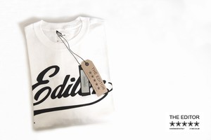 エディター|THE EDITOR|ロゴプリントTシャツ|M|ホワイト