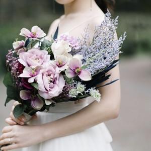 【Rental3泊4日】lavender bouquet & boutonniere