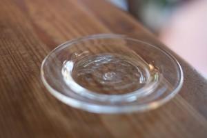 【倉敷ガラス・小谷栄次】◆◆◆皿◆◆◆(小)◆◆透明◆◆