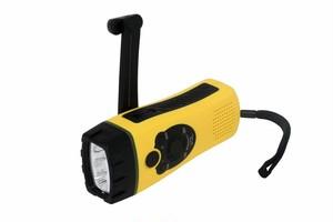 LEDハンディライト ダイナモ充電式 スマートフォン充電アダプタ