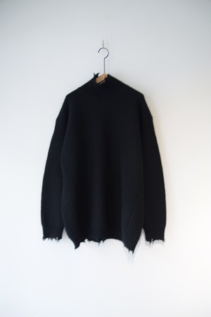 【BOTTLES】OI-N001 DAMAGE KNIT H/N