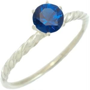 ブルースピネルシックスポイント シルバー リング(指輪)*R-436BS