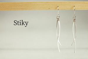 E-Stiky -SV950製 暖かなドライ 線状ピアス-