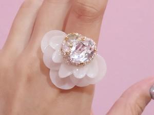 【リング.22】phantomFLOWER crystal