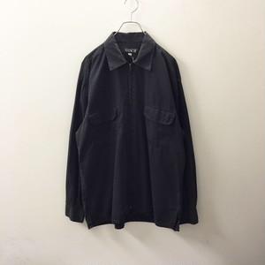 SASCH ジップアップシャツ ブラック色 size XL メンズ古着