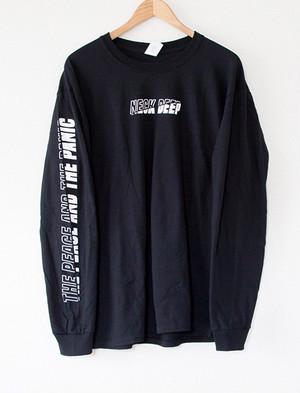 【NECK DEEP】Outline Fill Long Sleeve (Black)