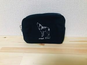 オオカミのポーチ(マチあり)