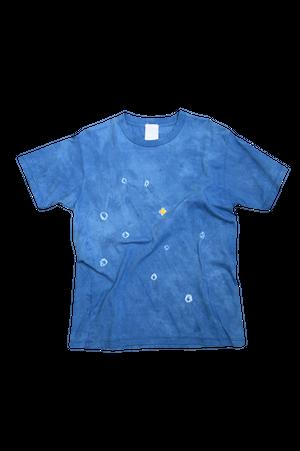 NO.666 藍染デザインTシャツ【Mサイズ】