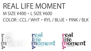 REAL LIFE MOMENT STICKER L SIZE