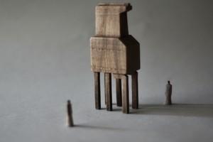 (105)wood figure-mini &structure 箱入 029
