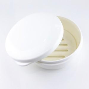 ソープケース 丸型 ホワイト(旅行や携帯用にも便利)【税込】