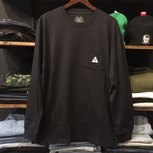 【palace skateboards】-パレススケートボード-SOFAR POCKET LONG SLEEVE BLACK