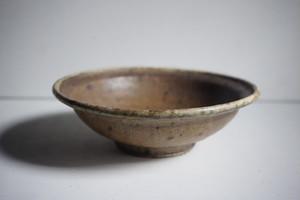 稲吉善光 鉄釉6寸 玉縁鉢