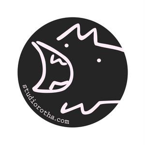 いぬ缶バッヂ(黒)