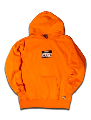 LOGO PATCH MAGIC HOODIE orange