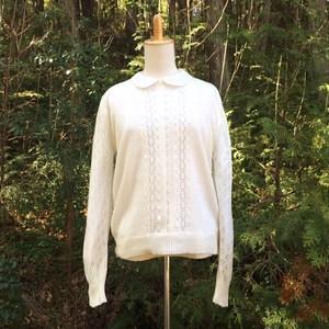 ニットセーター White openwork