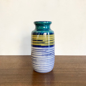 "Vintage W.Germany Pottery Vase ""Scheurich"" 213-20 西ドイツ"