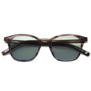 A.D.S.R. / RANDY ランディ / 02 Layer Brown & Gray - Gray lenses レイヤーブラウン/グレー-グレーフラットレンズ サングラス