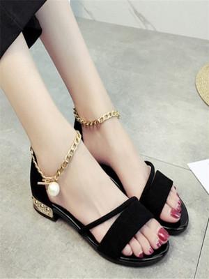 【shoes】Pearl simple design fashion sandals