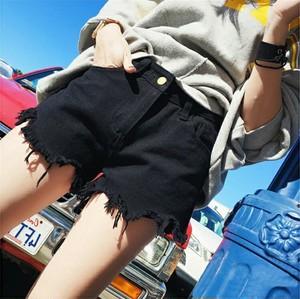 レディース 切りっぱなし ダメージ加工 デニムショートパンツ こなれ感 カジュアル 無地 お出かけ デート 女子会 春 夏