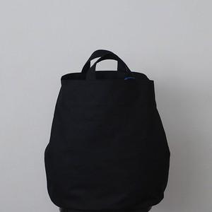 丸底 トートバッグ(大):黒