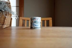 砥部焼/「青い鳥」筒型湯呑/森陶房kaori