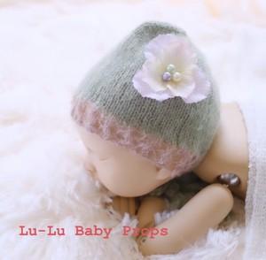 緑×茶ボンネ お花付き