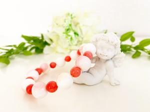 【ブレスレット】クィーンコンクシェル&コーラル(珊瑚)母性愛・安産・魔除け・航海の御守り