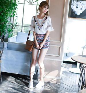 花柄刺繍シャツ tシャツ 刺繍オフショルダー ブラウス レディース トップス ブラウス 透け感 花柄 プルオーバー